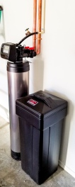 Drop down water softener install