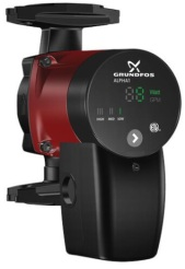 Grundfos ALPHA1 circulator pump - heating, cooling, hot water